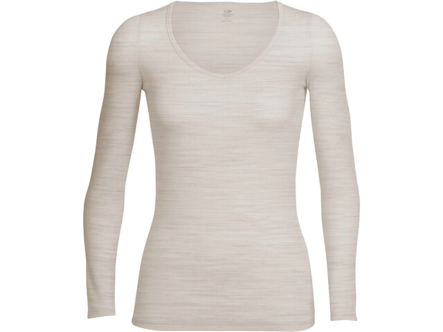 Icebreaker Siren T-shirt Manches longues Femme, fawn heather